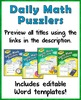 Daily Math Puzzlers School Site License