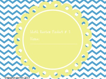 Daily Math Review Pack #1