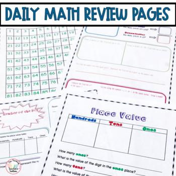 Daily Math Review Write On/Wipe Off Pages CCSS Aligned K-5