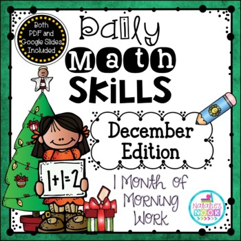 Daily Math Skills {December Morning Work}