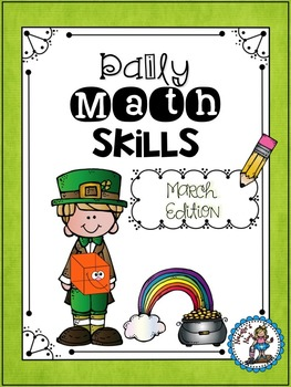 Daily Math Skills {March Morning Work}