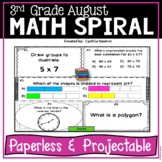 Daily Math Spiral for 3rd Grade - Common Core No Prep
