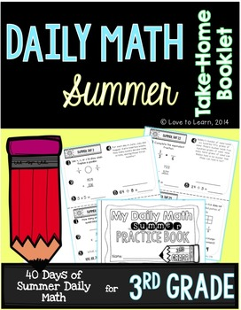 Daily Math Summer Take-Home Booklet Third Grade