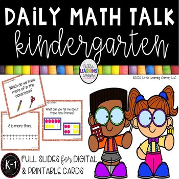 Daily Math Talk Cards - Counting and Cardinality