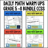 Common Core Math Daily Warm Ups {5th-8th Grade Bundle}
