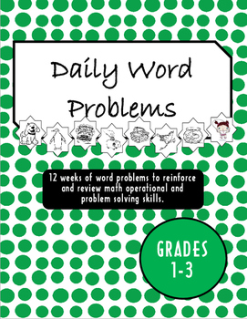 Daily Math Word Problems Grades 1-3