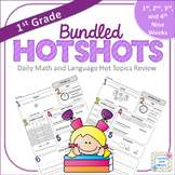 1st Grade Daily Math and Language Hot Topics Review BUNDLE