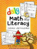 Daily Math and Literacy {October and November} Morning Work