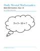 Daily Mental Mathematics Days 1-25