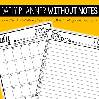 Daily & Monthly Calendar Planner Without Notes, 2016-17