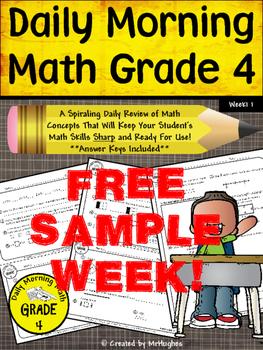 Daily Morning Math Grade 4 {FREE SAMPLE WEEK}