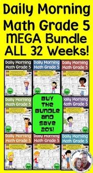Daily Morning Math Grade 5  MEGA Bundle {Weeks 1-32}