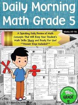 Daily Morning Math Grade 5 {Weeks 29-32}