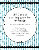 Daily Morning Work 4th grade for 27 Weeks Printable!