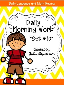 Daily Morning Work- Set 10
