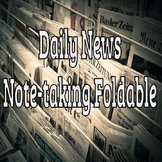 Daily News Viewing Note-taking Foldable (editable)