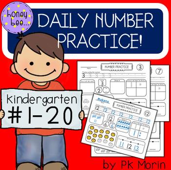 Daily Number Practice for Kindergarten