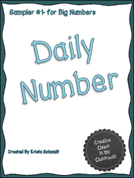 Daily Number Sampler 1-Big Numbers