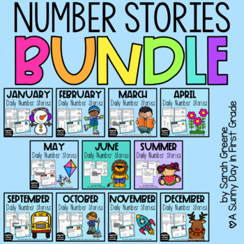 Daily Number Stories {The COMPLETE Set!!}