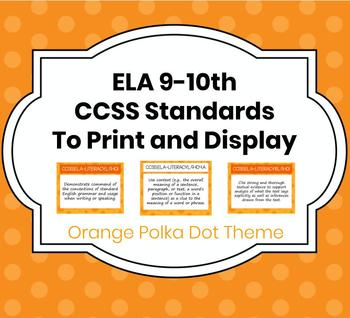 Daily Objectives: CCSS for ELA 9-10 to Print and Display i
