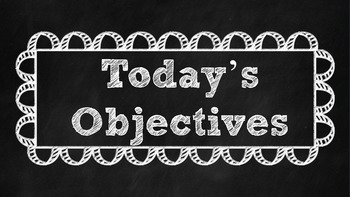 Daily Objectives (Common Core)