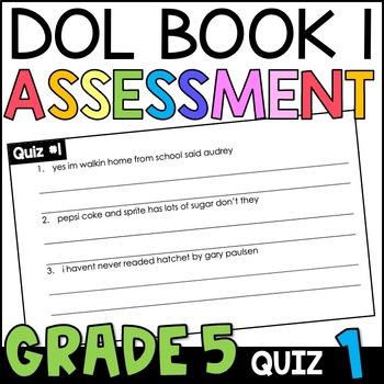 Daily Oral Language (DOL) Quiz Set #1: Aligned to 5th Grad