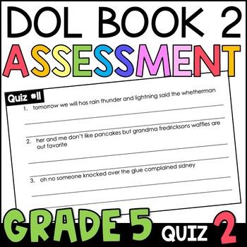 Daily Oral Language (DOL) Quiz Set #2: Aligned to 5th Grad