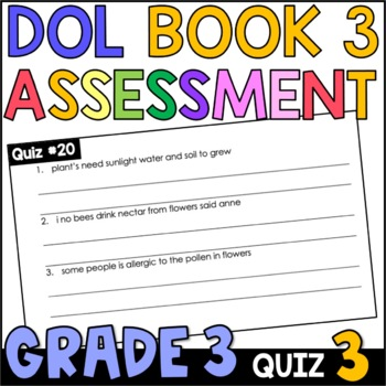 Daily Oral Language (DOL) Quiz Set #3: Aligned to 3rd Grad