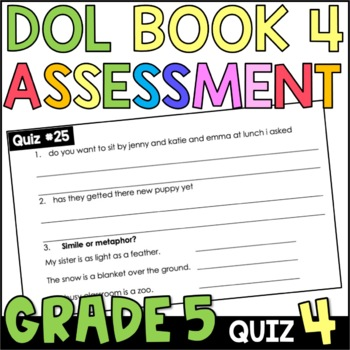 Daily Oral Language (DOL) Quiz Set #4: Aligned to 5th Grad