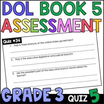 Daily Oral Language (DOL) Quiz Set #5: Aligned to 3rd Grad