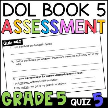 Daily Oral Language (DOL) Quiz Set #5: Aligned to 5th Grad