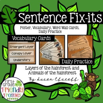 Daily Oral Language - Froggy Fix-its!  - Morning Work - Ra