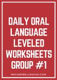 Daily Oral Language Leveled Worksheets Group #1