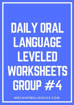Daily Oral Language Leveled Worksheets Group #4