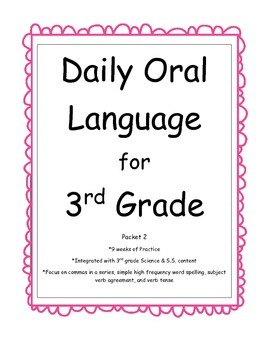 Daily Oral Language for 3rd Grade -- Packet 2