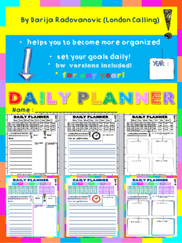Daily PLANNER - helps you to become more organized- FREEBIE
