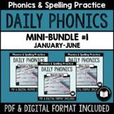 """Daily Phonics"" Word Work Mini-Bundle #1 (January - June)"