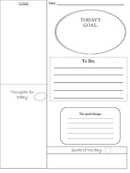 Daily Planner Page for Educators