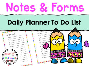 Daily Planner To Do List