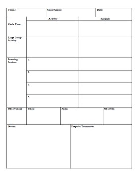 Daily Planning Worksheet