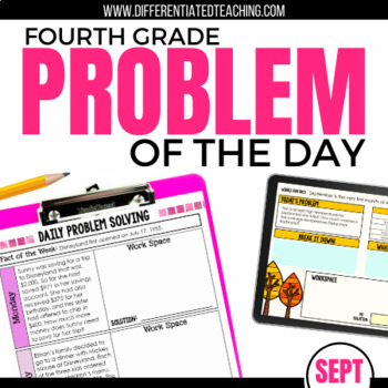 Daily Problem Solving for 4th Grade: September Word Problems