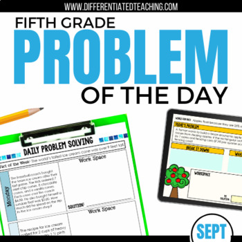 Daily Problem Solving for 5th Grade: September Word Problems