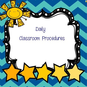 Daily Procedures for Back to School