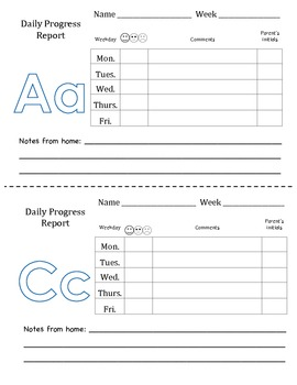 Daily Progress Reports with Letters
