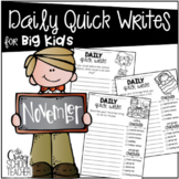 Daily Quick Writes for BIG KIDS {November}