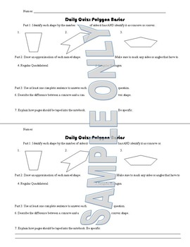 Daily Quiz: Polygon Basics