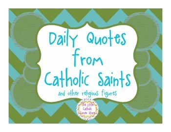 Daily Quotes From Catholic Saints - Green
