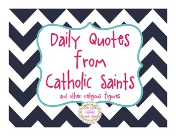 Daily Quotes From Catholic Saints - Navy & Pink