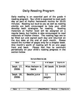 Daily Reading Program