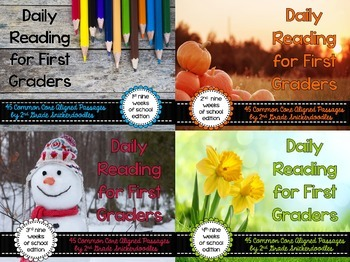 Daily Reading for First Graders {Entire Year Bundle}